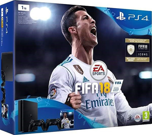 Sony Playstation 4 Slim 1TB Fifa 18 Bundle (2db Kontrollerrel)