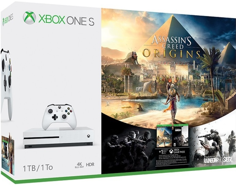Microsoft Xbox One S 1TB Assassins Creed Origins Bundle (Ajándék Rainbow Six Siege)
