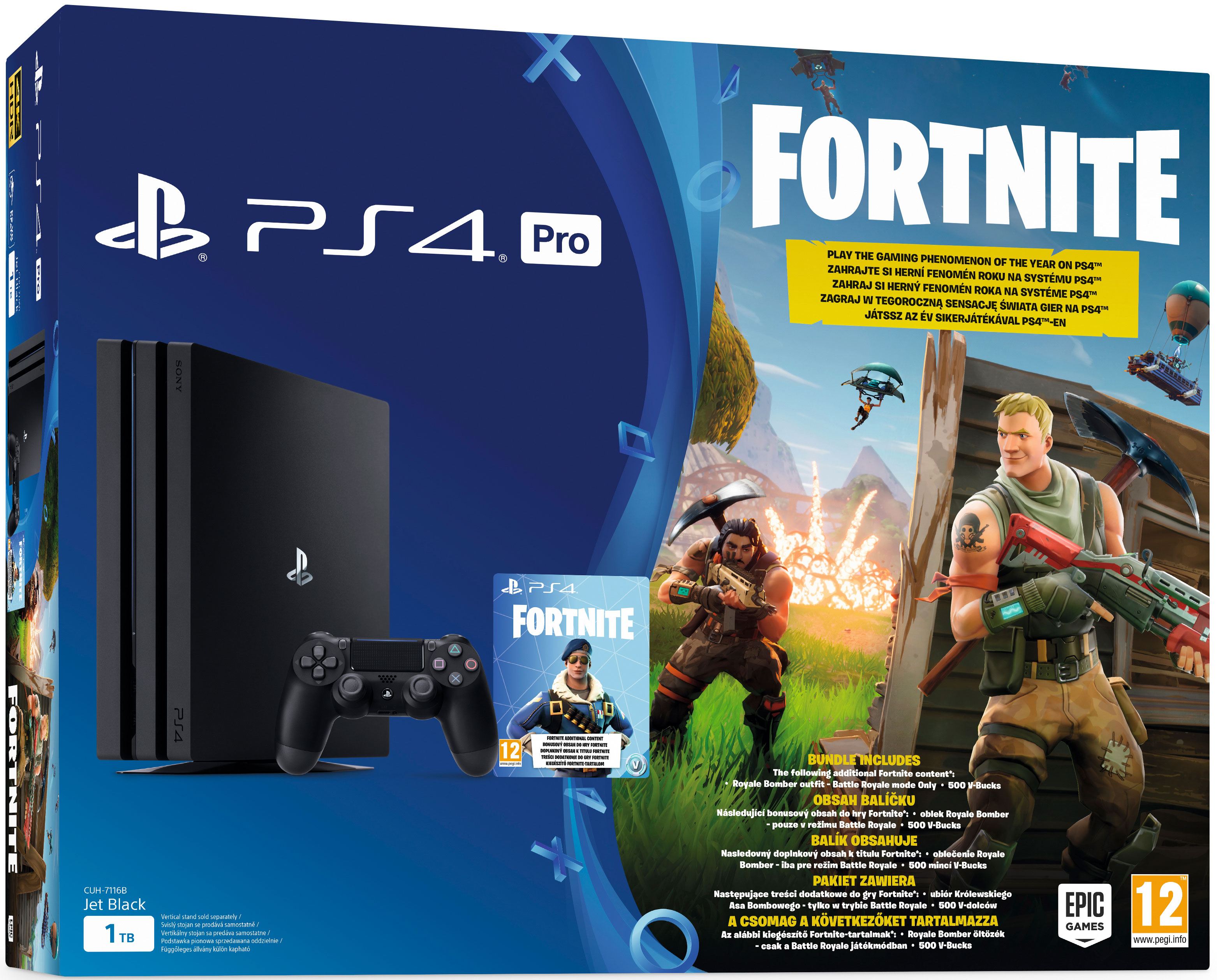PlayStation 4 Pro 1 TB  Fortnite Bundle