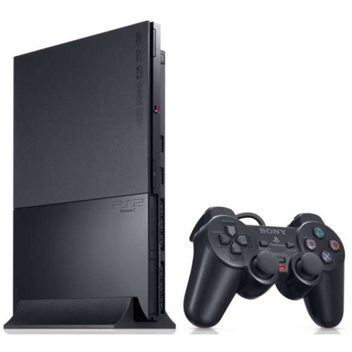 PlayStation 2 Slim Fekete