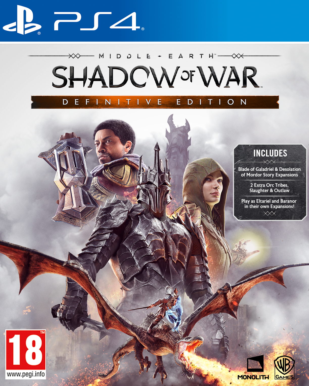 Middle Earth Shadow of War Definitive Edition