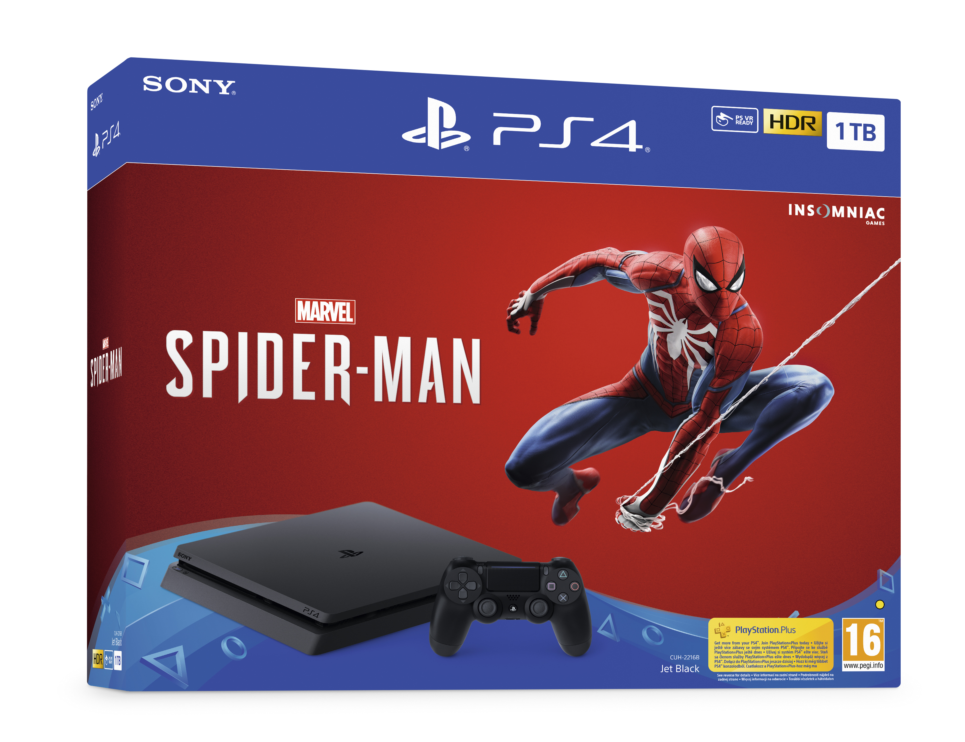 PlayStation 4 Slim 1 TB Spider Man Bundle - PlayStation 4 Gépek