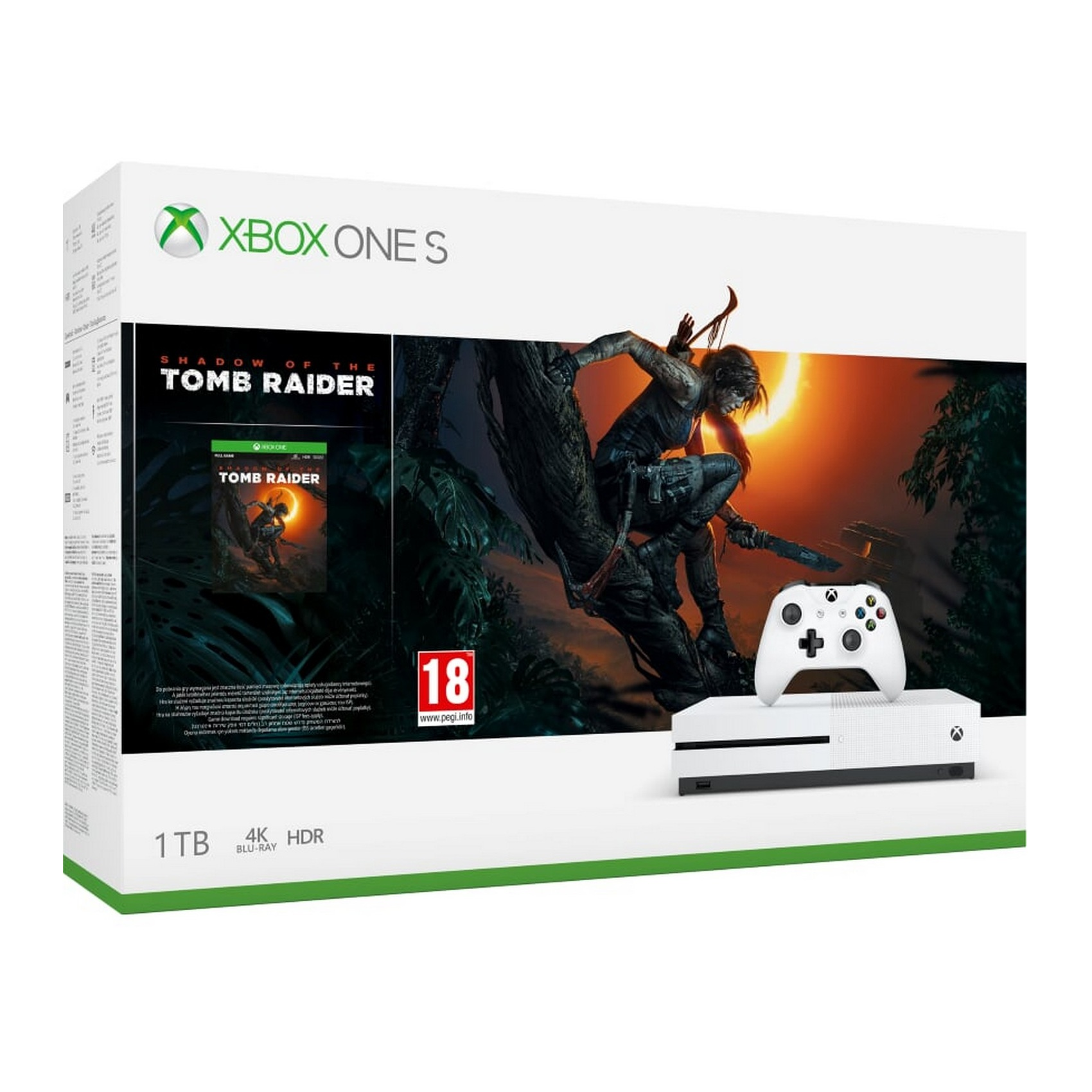 Microsoft Xbox One S 1TB Shadow of the Tomb Raider Bundle