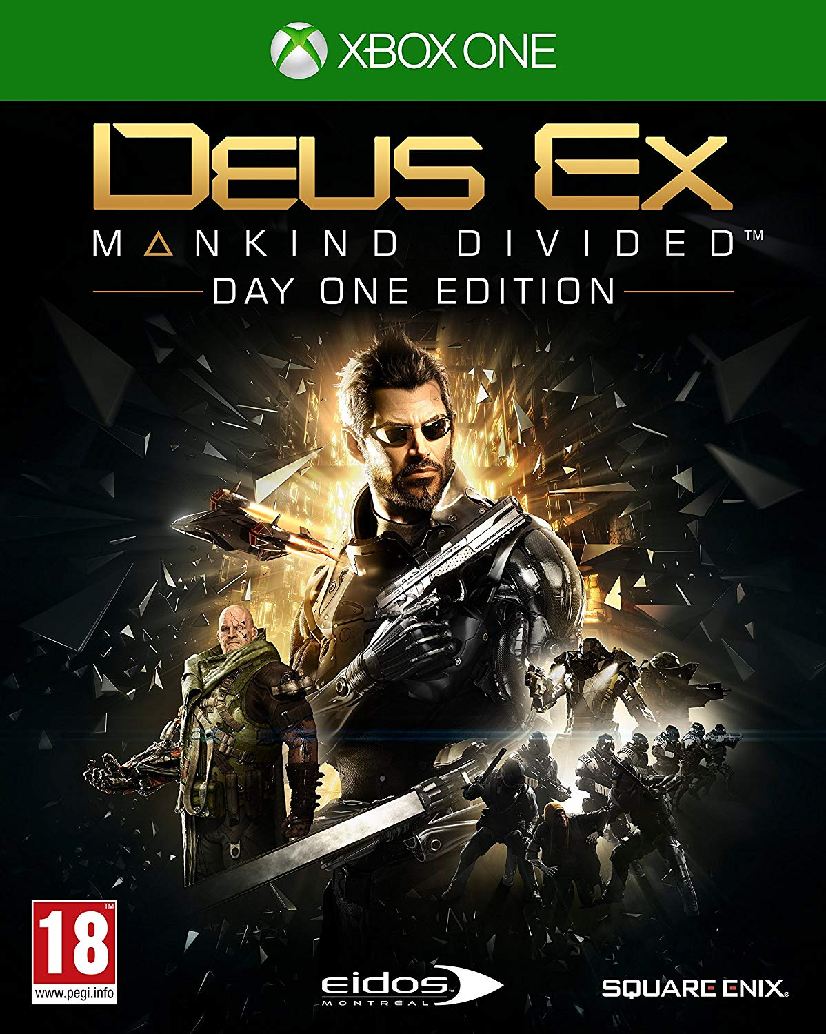 Deus Ex Mankind Divided Day One Edition Steelbook