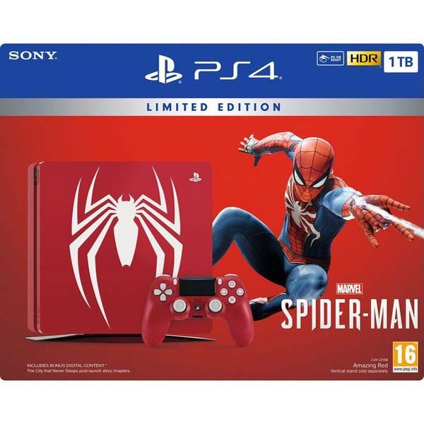 Sony PlayStation 4 Slim 1TB Limited Spider Man Edition + Spider Man