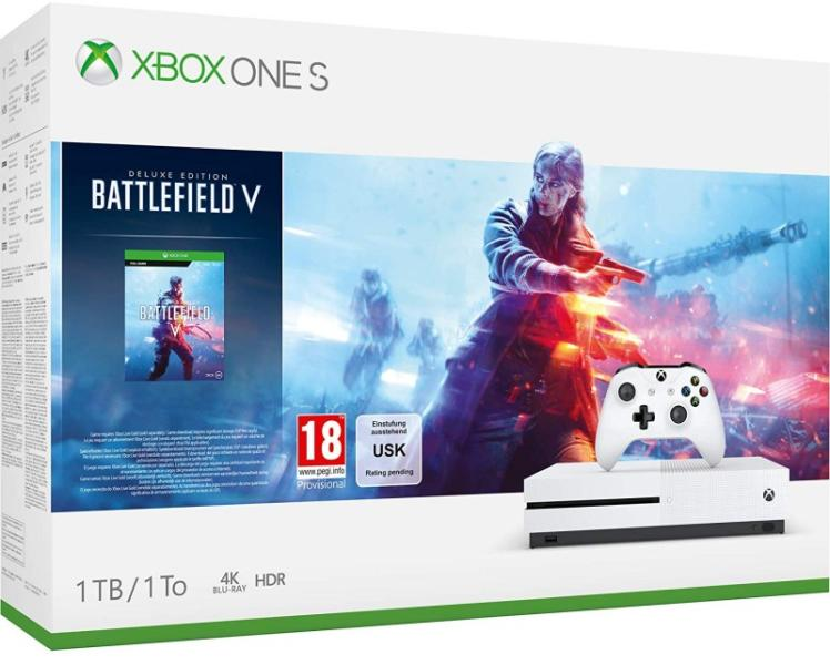 Xbox One S 1TB Battlefield V Bundle