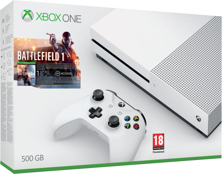 Microsoft Xbox One S 500GB Battlefield 1 Bundle