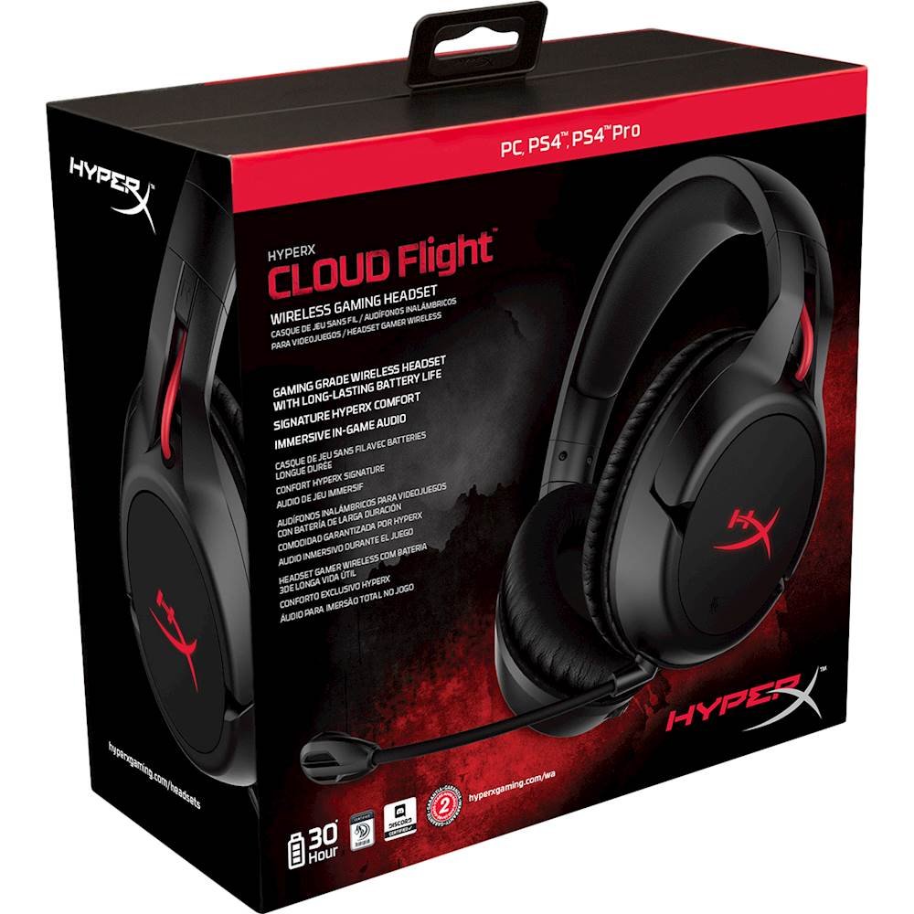 HyperX Cloud Flight Wireless Gaming Headset - PlayStation 4 Kiegészítők