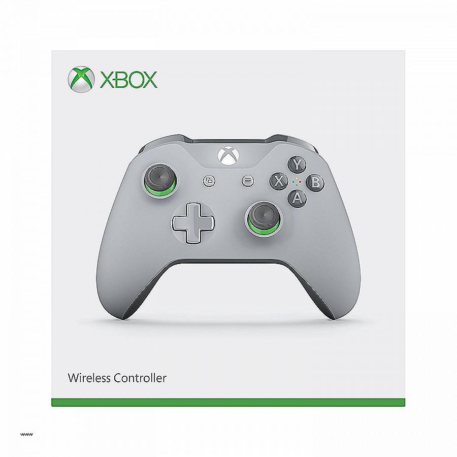 Xbox One Grey/Green Controller Wireless 3.5mm Jack
