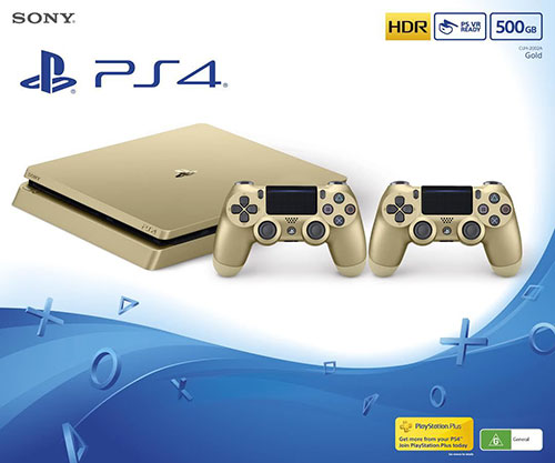 Sony Playstation 4 Slim 500 GB Gold Bundle ( Ajándék Kontrollerrel )