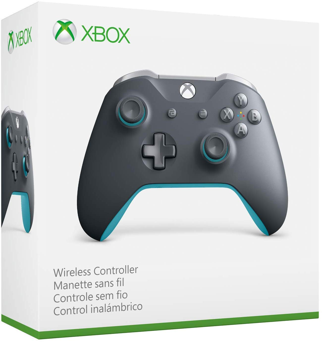 Xbox One Grey/Blue Controller Wireless 3.5mm Jack