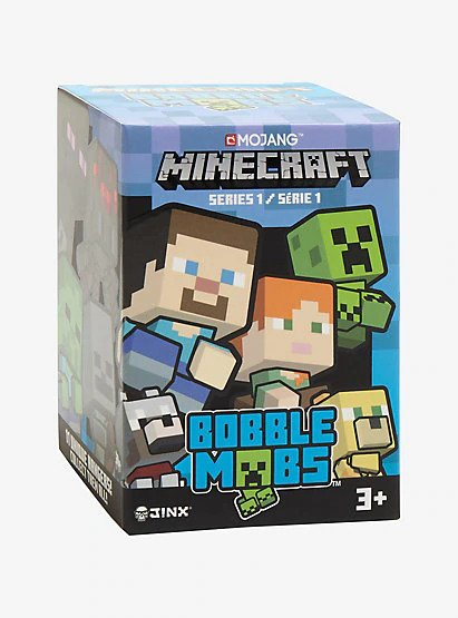 Minecraft Bobble Mobs Blind Packs Series 1 Kulcstartó