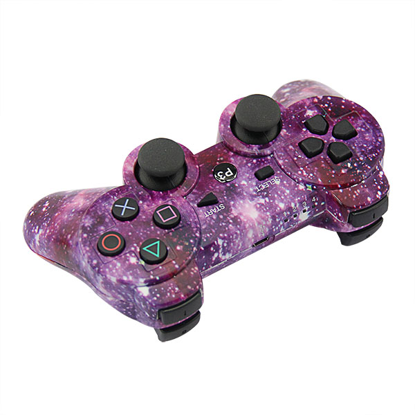 P3 PlayStation 3 Wireless Controller (Purple Star Camouflage)