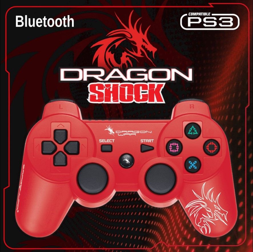 Dragon Shock Bluetooth PS3 Controller Red