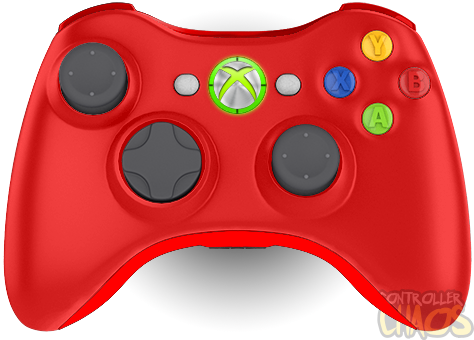 Xbox 360 Wireless Controller Custom Red