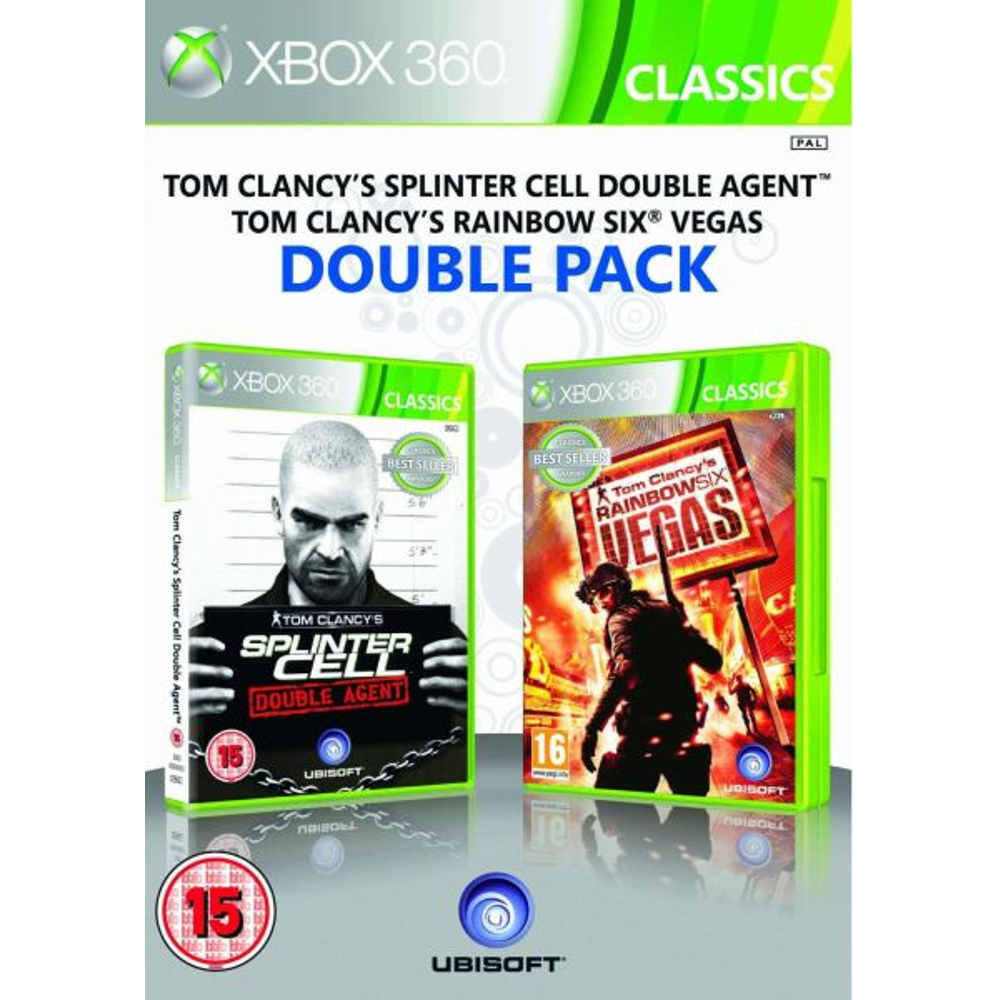 Tom Clancys Splinter Cell Double Agent Tom Clancys Rainbow Six Vegas Double Pack