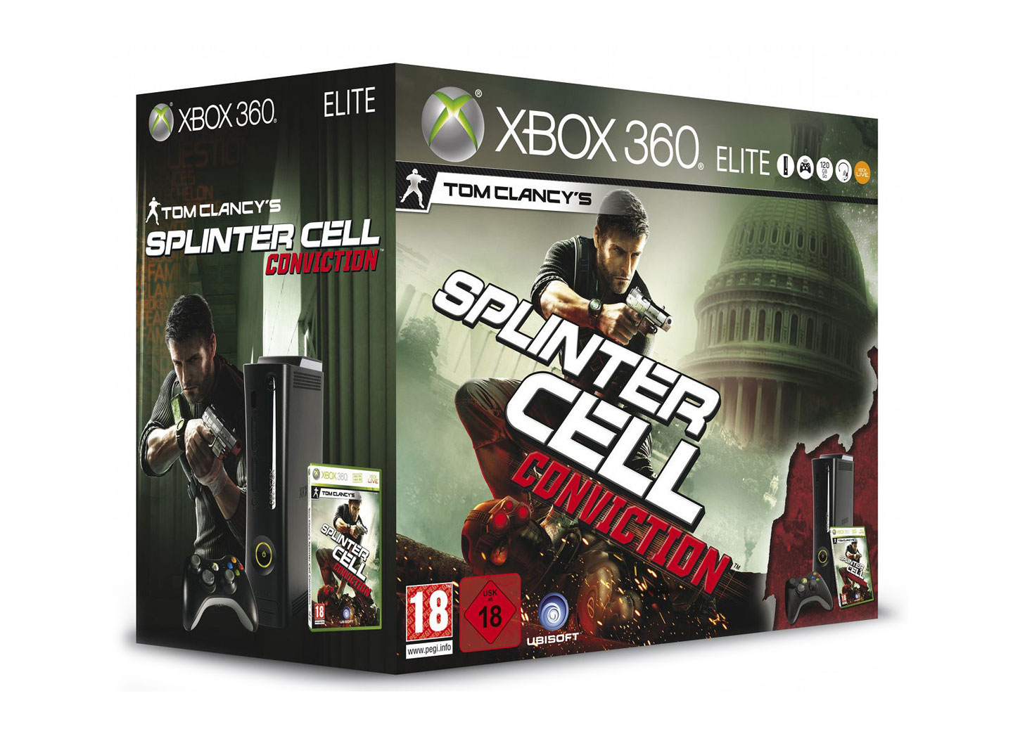 Xbox 360 Elite 120gb Tom Clancys Splinter Cell Conviction Bundle