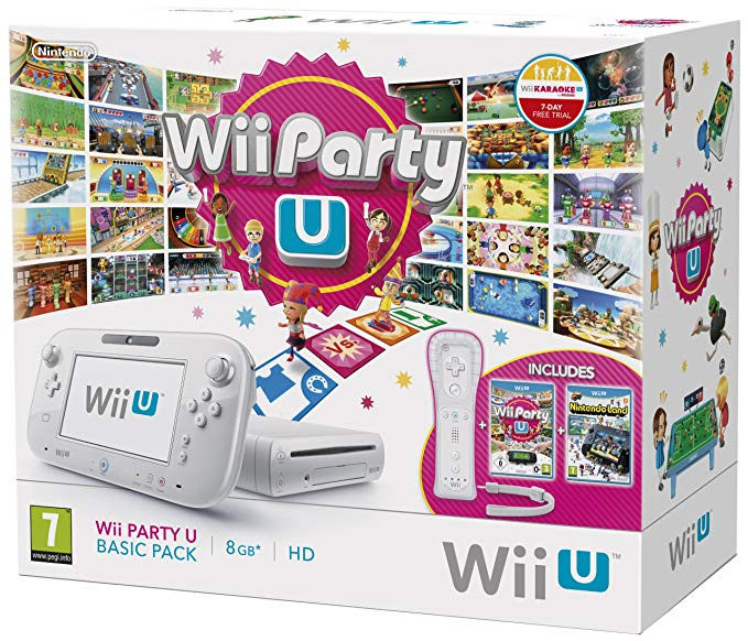 Wii U 8GB Basic Pack Wii Party U Pack with Wii Remote Plus
