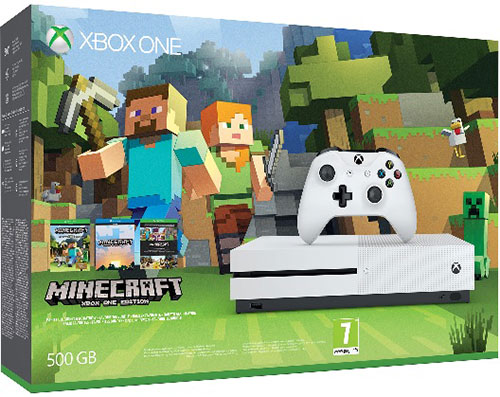 Microsoft Xbox One S 500 GB Slim Minecraft Story Mode Bundle (Ajándék 3 Hó Live Gold)